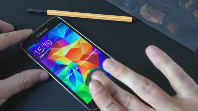 Galaxy S5 fingerprint scanner hacked